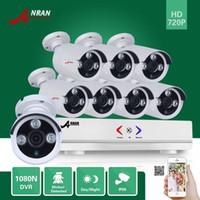 Plug Play ANRAN 8CH Hybride HDMI HD AHD DVR 1800TVL 720P étanche à l'extérieur Array IR Night Vidéo CCTV Camera Home Security System