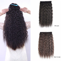Wholesale Kinky deep curly clip in on hair extension cm quot g hairpieces for woman brazilian hair pieces synthetic hair
