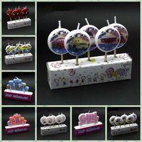 Wholesale 1000pcs Birthday Cartoon Candle Cute Decor Party Cake Candle Princess Prince Minions Spider man Car Minnie Creative Candles Designs LJJL86