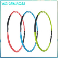 Wholesale cm Parts Sections Removable Hula Hoop Abdominal Massage Hula hoop Weight Loss Waist Slimming Fitness Equipment