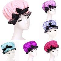 Wholesale Waterproof Women Lady Elastic Satin Shower Bathing Salon Hair Cap Hat Pc