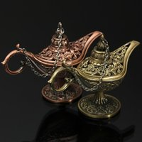 antique lamp styles - Novelty Antique Style Fairy Tale Aladdin Magic Lamps Tea Pot Genie Lamp Vintage Retro Toys For Children Home Decoration Gifts