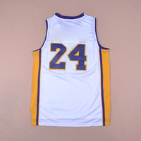 baskeball jerseys - Return the King Hero Bryant Purple Gold Grey Yellow Kobe Baskeball Jersey Sports wear Replica embroidered LOGO