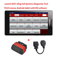 Wholesale Launch X431 Idiag X431 Dbscar Full Systems Diagnostic Tool Plus Lenovo Android Tablet PC with Softwares Update by Email Free