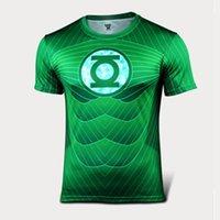 Wholesale 2016 The Avengers t shirt men superhero Batman Jersey shirt sports quick dry fitness compression drying T shirt D