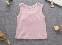 angels brand clothing - New Summer Children s Clothing Girl Boy Baby Angel Wings Cotton Sleeveless T Shirt Kids Top Coat White Pink And Brown BH2161