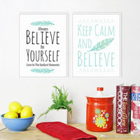 believe painting - Minimalist Motivational Typography Believe Quotes A4 Art Print Poster Wall Picture Canvas Painting Living Room Decor No Frame