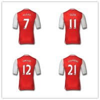 arsenal white jersey - TOP A Arsenal Alexis Giroud Ozil jersey home maillot de jerseysmaillot de football shirt with patches