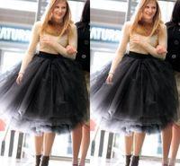 best black skirt - Best Selling Black Maxi Tulle Skirts Custom Made Plus Size Ball Gown Women Skirt Tulle Ankle Length Skirts for Wedding Party Skirts