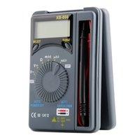 Wholesale 1Pc Professional Hot Auto Range LCD Mini Voltmeter Tester Tool AC DC Pocket Digital Multimeter hot sales
