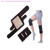 Wholesale Beauty Health Black Diving fabric Tourmaline Self Heating Knee Pads Far Infrared Magnetic Therapy Spontaneous Heating Pad