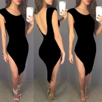 Wholesale New Women Sexy Deep V Celebrity Cotton Asymmetrical Maxi Dress Bandage Sleeveless Hollow out Long Dress Spaghetti Strap