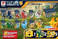 beast warrior - 6PCS Nexo Knights of the future Building Blocks Castle Warrior Clay Beast Master Aaron Macy Flame Thrower Smasher Minifigure Toys
