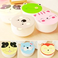 Wholesale Set Kawaii Candy Color Cartoon Patterns Lunch Box Microwave Oven Bento Container Case Dinnerware Children s Birthday Gift