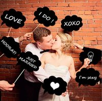 Wholesale 10pcs Wedding or Engagement DIY Photo Booth Props Cloud Speech Bubbles on a Stick Wedding Garland Bridal Shower Favor Party Supplies