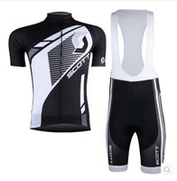 Wholesale 2016 Promotion Scoot Team Cycling Jerseys Quick Scoot Bike Wear cycling jersey Short sleeve cycling tights bib pants cycling skinsuit