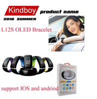 Wholesale Smart Bracelet OLED L12S Bluetooth Smartwatch Wrist Watch for Andriod Phone Multi Color for you Chioce free DHL from kindboy