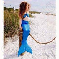 Wholesale 1000pcs CCA3728 Creative Colors Kids Swimmable Mermaid Tail Swimwear Children Bikini Bathing Suit Swimsuit Beachwear Baby Swimming Costume