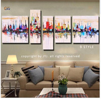 artist picture frames - Direct from Artist New York Cityscape Picture Hand painted Modern Abstract Oil Painting On Canvas Wall Art Gift