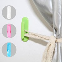 Wholesale Paste curtain wall hook kitchen bathroom sticky hooks strong adhesive hook two loading key