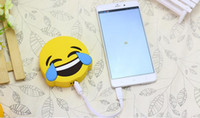 Wholesale new cute emoji gift power bank large capacity protable charger mah plastic material max output A