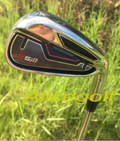 Wholesale 2015 new golf irons RSi irons PASw steel shafted Regular Stiff Flex per set with headcovers