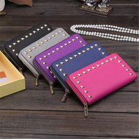 Wholesale England Style Fashion Wallets Long Square Letter Wallets Standard Wallets Holders with Zipper Rivet for Credit Card M009