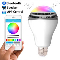 Wholesale 2016 Newest PLAYBULB Smart LED Bulb Light Wireless Bluetooth Speaker V V E27 W Lamp Audio for Android ISO iPhone iPad