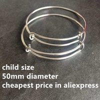 Wholesale High Quality mm Children SizeAlex and Ani Style Steel Adjustable Expandable Wire Bangle Bracelets