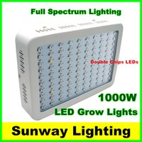 Wholesale 1000w led grow light Recommeded High Cost effective Double Chips full spectrum led grow lights for Hydroponic Systems indoor grow panel lamp