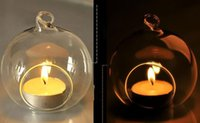 Wholesale Dia cm Glass Tealight Holders Hanging Candle Holders For Wedding Candlestick Wedding Decor Home Decor