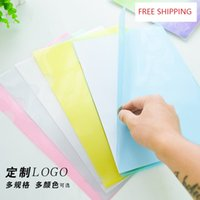Wholesale A4 L Folder trasparent raw PP material office file folder thickness c c E310 document paper organizer