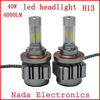automotive halogen light bulbs - H13 LED CAR HEADLight W LM COB automotive headlight HI LO headlamp H13 replace Xenon HeadLight Bulb Halogen Light Super White K