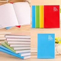 Wholesale 68 Sheets A5 Size Candy Color Softcover Notebook Notepads For Accounts Recording Financing Daily Memos Note Book Gift for Students