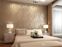 Wholesale Top Quality Fabric Mural wallpaper modern striped flock wall paper papel de parede tapete bedroom x1000cm