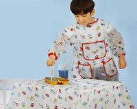 Wholesale Hot Sale Cute Kids Children Waterproof Aprons anti stain Apron Cartoon Smock Apron For Cooking Art Painting
