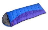 Wholesale Envelope Style Waterproof Sleeping Bag for Outdoor Camping Hiking Travel Outdoor Gear Polyester Pongee Sleeping Bag