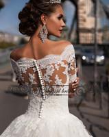beach turkey - Rustic Lace Vintage Wedding Dress Turkey Sexy Ball Gown Short Sleeve Women Wedding Dress Bridal Gown