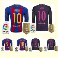 barcelona long sleeve shirt - sold Barcelona long sleeve jersey MESSI ARDA A INIESTA SUAREZ SERGIO PIQUE I RAKITIC NEYMAR JR soccer shirts