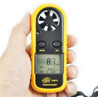Wholesale New GM816 Hand held Air Wind Speed Scale Meter Digital Anemometer M S MPH with Track Number