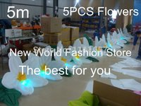 Wholesale LED lighting giant fabric inflatable flower for wedding decoration m