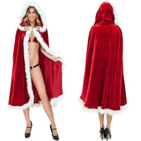 adult costumes sale - Hot Sale Sexy Santa Christmas Lingerie Dresses Adult Women Little Red Riding Hood Costume Cosplay Merry Xmas Clothes