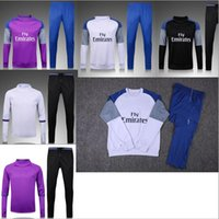 Wholesale Real Madrid training suit jerseys Thai edition quality men camiseta Footballs Sportswear training