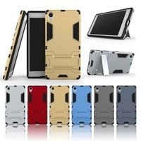 best iphone cover brands - Best selling Iron bear series durable tough Armor shock resistance hard cover phone case PC Silicone gel for Sony Xperia Z5 Premium