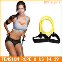 Wholesale RODEX Tension Elastic pilates Exercise Sport Workout fitness Equipment rubber loop Stretch expander Belt Pull Strap Resistance