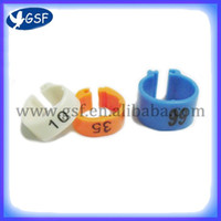 Wholesale Big size colorful plastic birds leg ring opening pigeon ring with number from