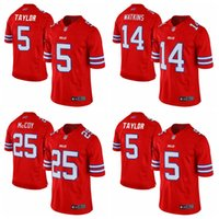 authentic soccer jerseys cheap - 2016 New Men s Cheap Buffalo football jerseys Bills Taylor Watkins McCoy Red Color Rush Limited Jersey authentic Soccer rugby shirt