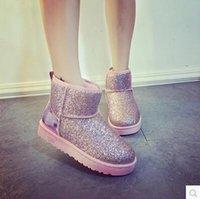 venda por atacado botas curtas-2016 botas de inverno botas de neve mulheres curtas botas sapatos botas femininas inverno neve mulheres botas estudantes de algodão sapatos