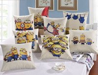 Wholesale Home Decorative Pillow Cover cm More Despicable More Minions Pillow Case Captain America Superman pattern