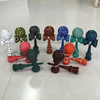 Wholesale Crack Print Kendama Ball Skillful Jling Game Ball Japanese Traditional Wood Sword Ball Toys Kids Educational Toys Amusement Toys PPA23